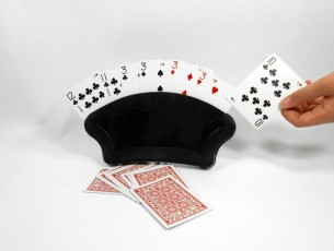 Fan Shape Free Standing Playing Card Holders - Includes 2 Card Holders