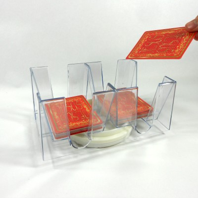 Six (6) Deck Revolving (Swivel) Playing Card Tray/Holder