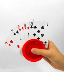Round Playing Card Holders - 4 Piece Set