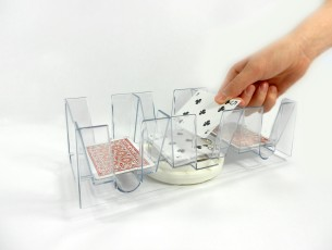 Nine (9) Deck Revolving (Swivel) Playing Card Tray/Holder