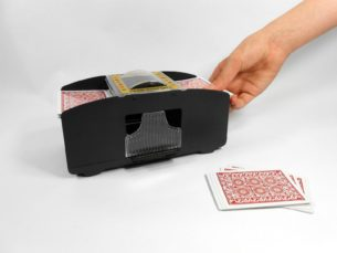 Automatic 2 Deck Playing Card Shuffler - Shuffles 1 to 2 decks