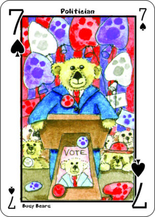 Busy Bear Semi-Transformational Playing Cards featuring Teddy Bears with Hidden Images