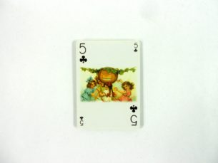 Vintage Pumpkin Playing Cards Featuring Old-Fashioned Art