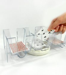 Nine (9) Deck Revolving (Swivel) Playing Card Tray/Holder