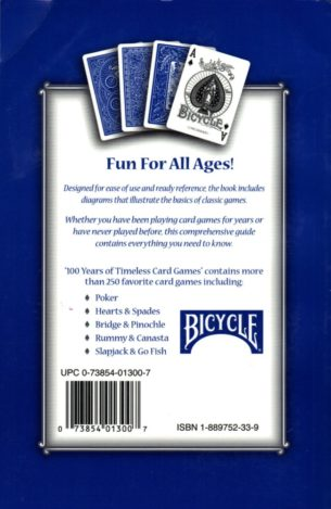 100 Years of Timeless Card Games from Bicycle - Paperback Rule Book